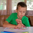 Young boy drawing — Foto de stock #12859909