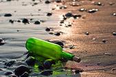 Bottle at sea — Stock Photo