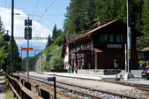 Swiss country railway station — Stock Photo