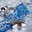 Stock Photo: Christmas theme silver and blue