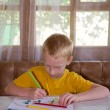 Young boy drawing — Stock Photo #12864260
