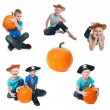 Halloween collage — Stock fotografie