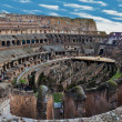 Internal view of Colosseum, panorama — Stock Photo