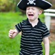 Young pirate crying — Stock Photo