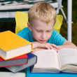Royalty-Free Stock Photo: 6-year boy reading book