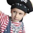 Cute boy wearing pirate's costume — Stock Photo