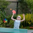 Royalty-Free Stock Photo: Young boy playing ping pong