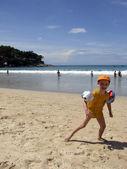 Boy on the beach — Stockfoto