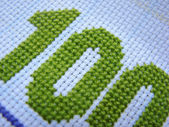 Embroidered numbers — Стоковое фото