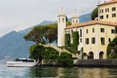 Villa Balbianello on lake Como — Stock Photo