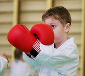 Taekwondo: muchacho lucha — Foto de Stock