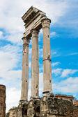 Tempel des castor und pollux, foro romano, rom — Stockfoto