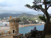 View to the sea from the old fortress in Tossa de Mar, Spain — Stock Photo