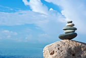 Balanced rocks at sea — Stock Photo