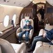 Business Jet Interior - Stock Photo