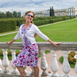 Young woman in Arkhangelskoye Estate, Moscow, Russia - Stock Photo