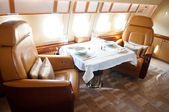 Interior of Business Jet — Stock Photo