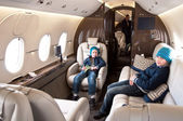 Business Jet Interior — Stock Photo