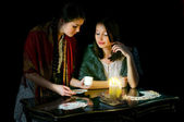 Christmastide fortune-telling — Stock Photo