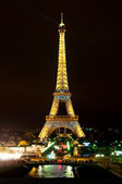 Eiffel Tower illuminated — Stock Photo