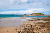 Low tide in St-Malo, France — Stock Photo