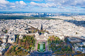 Aerial view of Paris, France — Stock Photo
