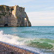 Royalty-Free Stock Photo: Ocean surf at Etretat, France