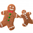 Two gingerbread men — Stock Photo