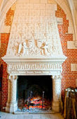Fireplace in Amboise castle at Loire valley, France — Stock Photo