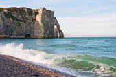 Ocean surf at Etretat, France — Stock Photo