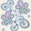 Abstract background with paisley — Stok Vektör