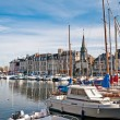 Stock Photo: Yachts in harbour of Honfleur, France