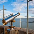 Royalty-Free Stock Photo: Telescope on view point on Mont Saint-Michel, France