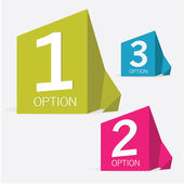 One two three - vector paper origami options — Stock Vector