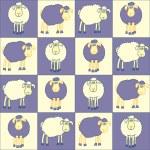 Постер, плакат: Sheeps violet