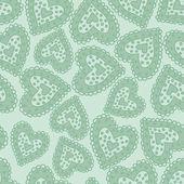 Hearts light green — Stock Vector