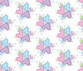 Seamless pattern with nice hearts — Stock Vector
