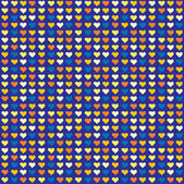 Seamless abstract pattern with hearts — Stock Vector