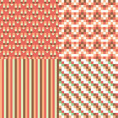 набор бесшовных абстрактный узор — Cтоковый вектор