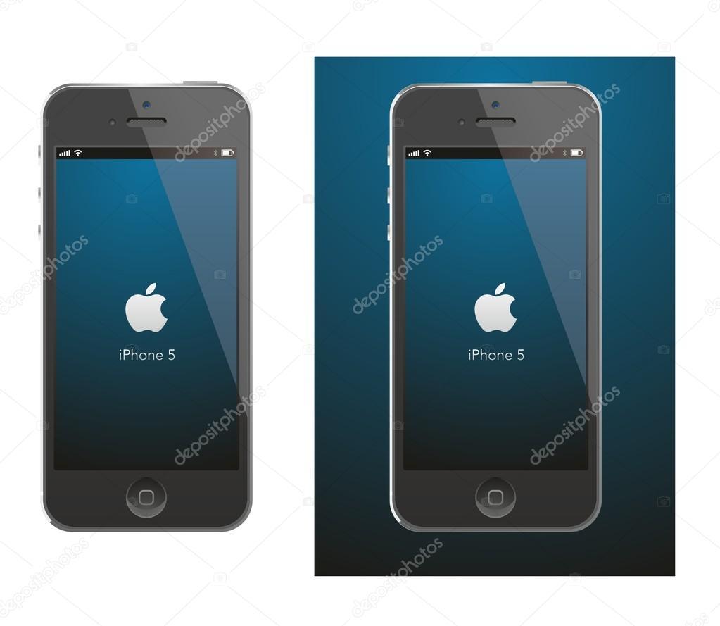 苹果iphone 5 黑色矢量