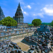 Prambanan Hindu temple (IX cent.),   UNESCO World Heritage Site, Yogyakarta,  Java, Indonesia - Stock Photo
