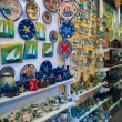 Souvenir shop in Ouranopolis, Athos Peninsula, Mount Athos, Chalkidiki, Greece - Stock Photo