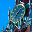Stock Photo: Main state clock - Spasskaya tower, Moscow, Russia