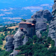 The Holy Monastery of St. Nicholas Anapausas, Meteora, Thessaly, Greece - Stock Photo