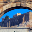Hadrian´s Arch and Acropolis, Athens, Greece — Stock Photo