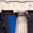 Dorian column of Parthenon, Acropolis, Athens, Greece - Stock Photo