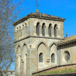 Old basilica near west entrance in Carcassonne, France — Stock Photo