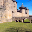 Walls and towers of famous medieval city, Carcassonne, France — Stock Photo #12853557