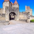 Main entrance (porte narbonnaise), Carcassonne, France — Stock Photo
