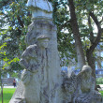 ������, ������: Statue of Fernand Lafargue 1856 1903 in Jardin botanique pub